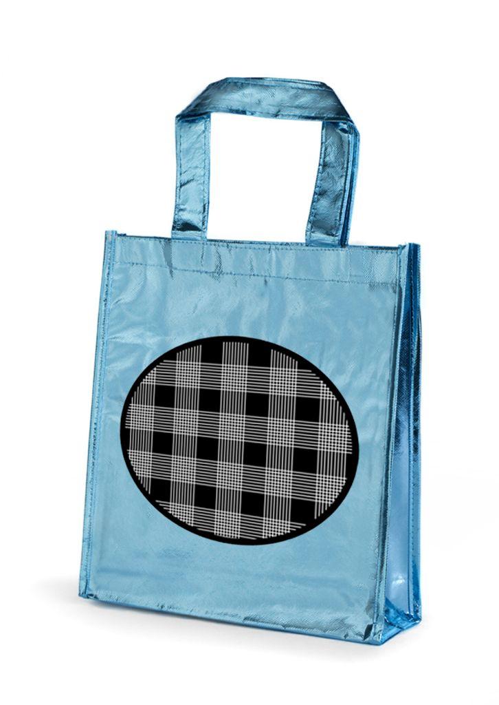 Bolsa no woven metalizada con diseño de Prismatika para Pak&Bag