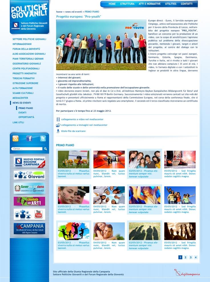 Politiche giovanili - Regione Campania: Web designer