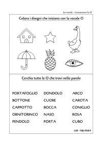 Vocale o scheda1 motricita 39 fine pregrafismo grafismi lettere approccio alla letto - Letto scrittura schede ...