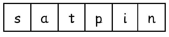 :simple satpin game- chn have strips of satpin letters in different order( n t a s p i) and coloured counters- show chn a pic or object and they have to cover the letter that the object begins with.