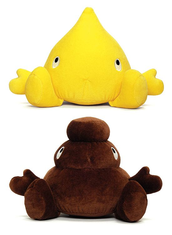 Pee&Poo plush duo