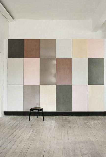 Très belle gamme de couleurs douces sur ce placard - un moyen d'apporter de la couleur à un lieu sans peindre les murs... #colorful
