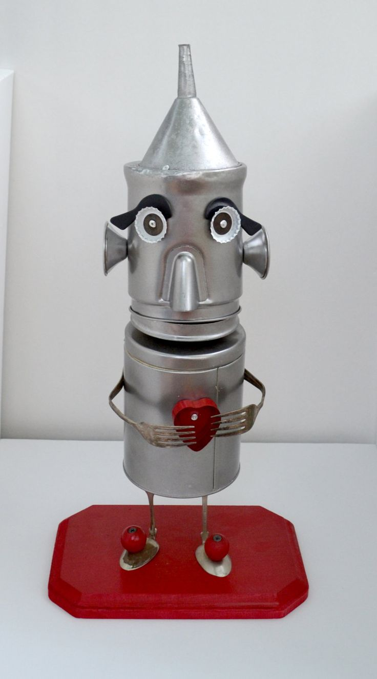 'Tin Man' - found art sculpture made by thetinmanstudio (Joe Mas)