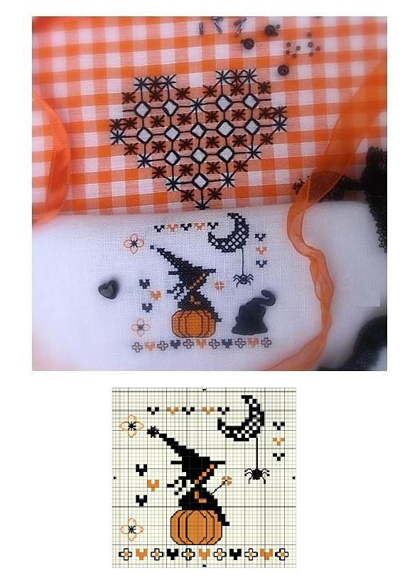 tiffany company outlet Cross stitch Halloween   no color chart available just use pattern chart as your color guide  or choose your own colors