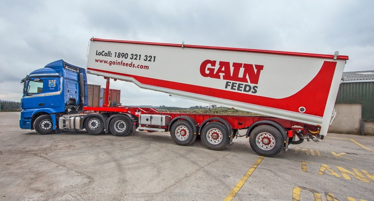 Gain Feeds new truck body graphics watch out for them in Ireland