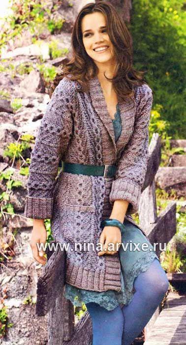 Пальто на осень со схемой