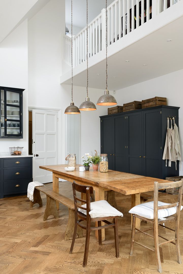 Rustic vibes in this beautiful new Shaker kitchen by deVOL