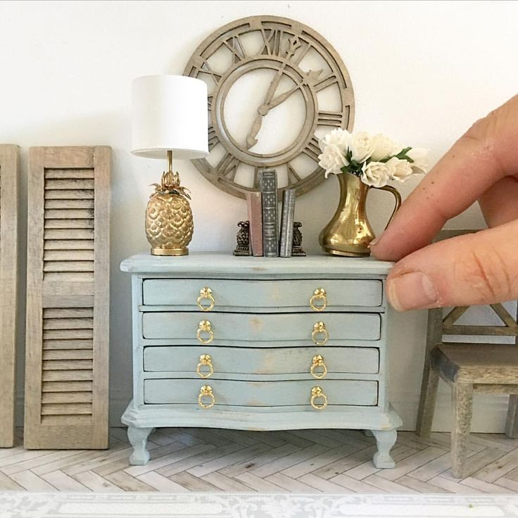 """547 Likes, 16 Comments - Miniature Touch Of Elegance (@lavenderbelle_miniatures) on Instagram: """"Duck egg blue.... one of my favourite colours """""""