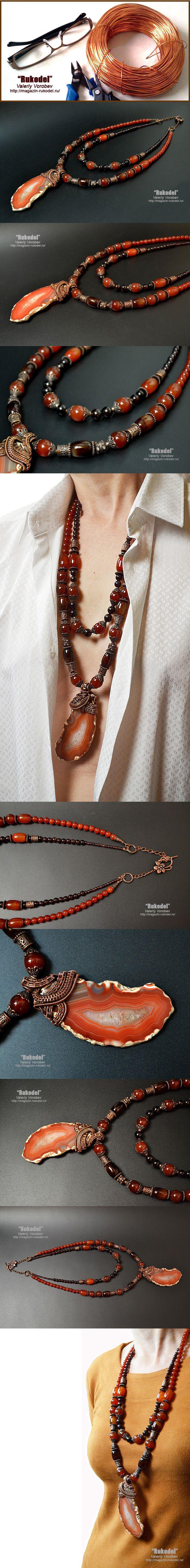 Купить Модное ожерелье с натуральными камнями.