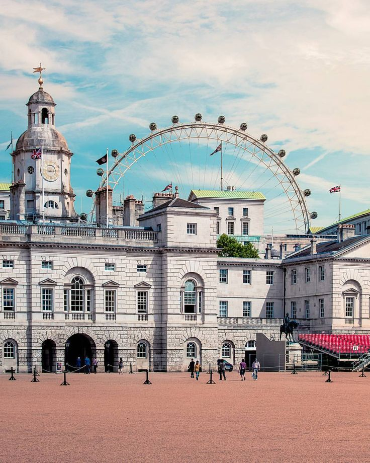 The wonderful Horse Guards Parade with the London Eye towering over in the background