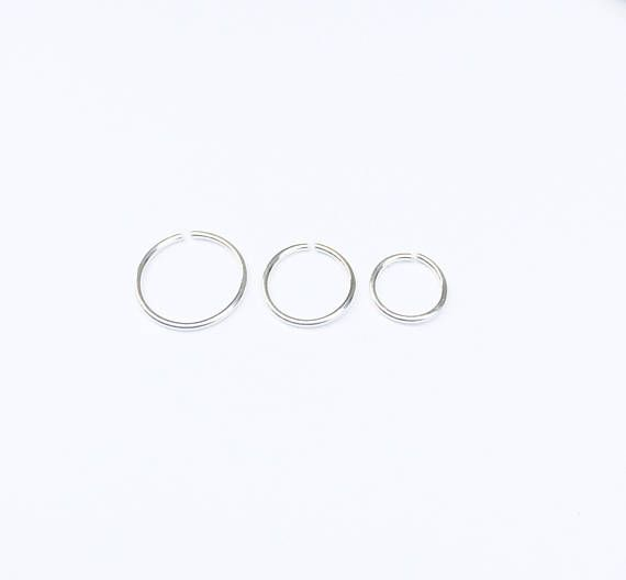 18 gauge cartilage earring 18g nose ring Silver septum ring