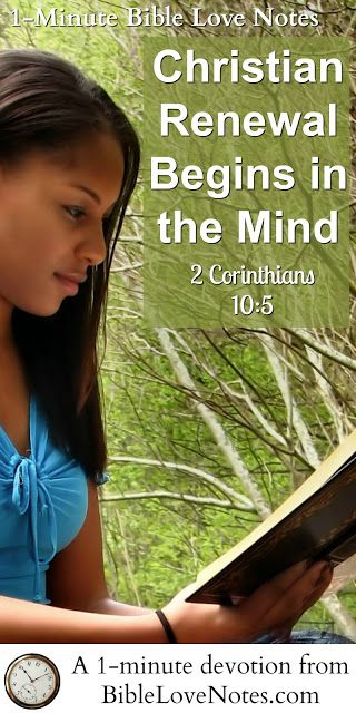 Did you know that Scripture tells us that renewal of our minds is an aggressive, proactive process? The Bible actually using battle language in this area. This 1-minute devotion explains and encourages us to find the enemies of our minds biblically.