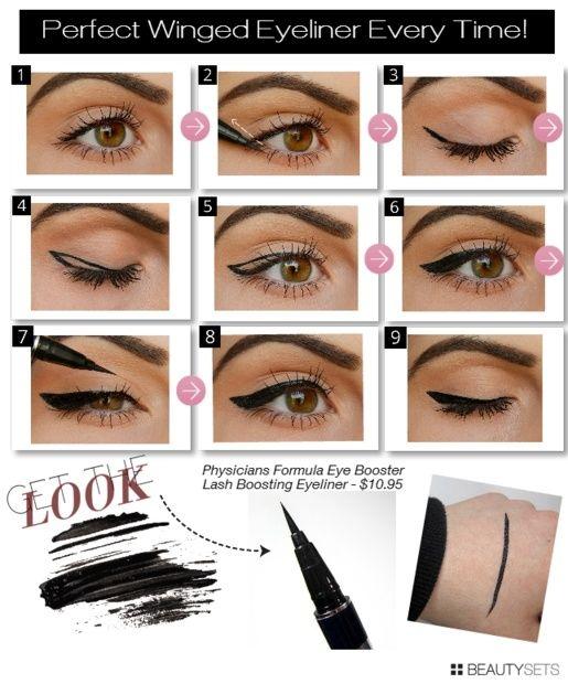 Winged eyeliner tutorial by Lisalou101796