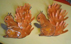 handprint squirrel craft