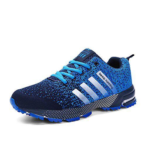 19036b06ba4b7 Kuako Chaussures de Course Basket Compétition Running Sport Trail  Entraînement Multisports Homme Femme - Bleu-1 - 39 EU