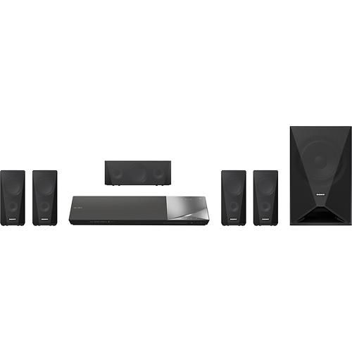 Sony - 1000W 5.1-Ch. 3D / Smart Blu-ray Home Theater System - Larger Front