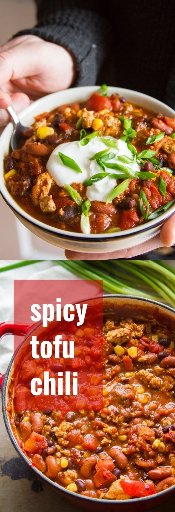 Tofu chili is the best vegan chili you will ever eat! Hearty, crumbly, and packed with protein, tofu is the game changing addition to meatless chili that you've been missing.