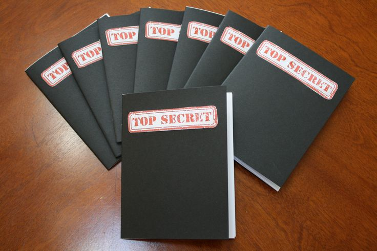Lot of 10 TOP SECRET Spy Notebook's Spy Party by FiveMooreCrafts