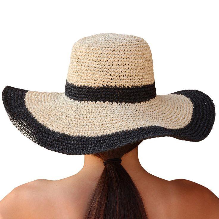 Palms & Sand Andros Womens Sun Hat Wide Brim Floppy