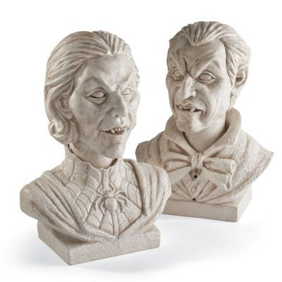 velma and evander interactive marble halloween busts halloween decorations and traditional clothes racks