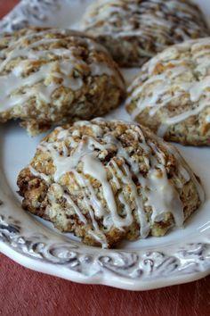 Cinnamon Bun Scones #breakfast #recipes