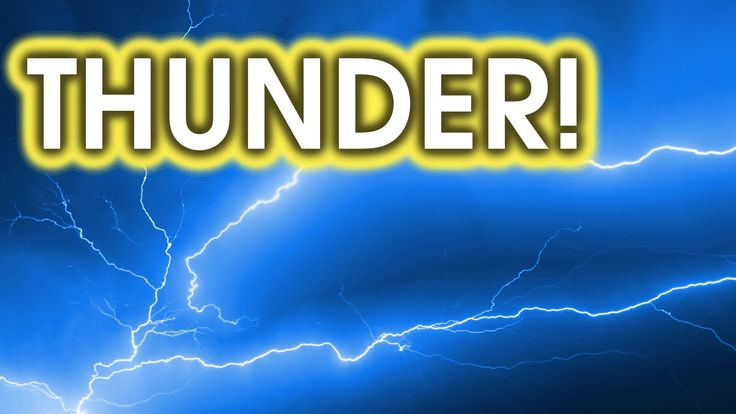 Thunder storm sound effects could be used for the environment at certain points in the story.