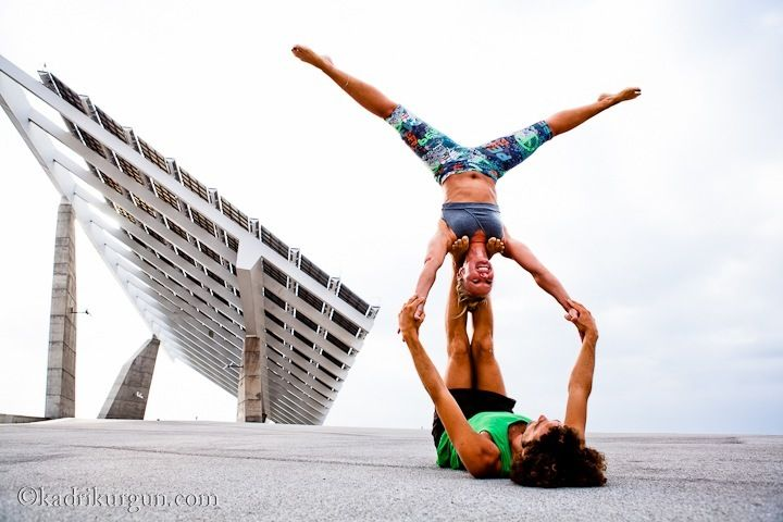 Acro Yoga Star Pose