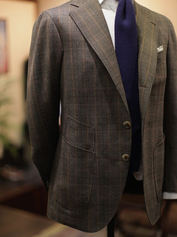 B Amp Tailor Patch Pocket Sports Coat Amp Liverano Wool Knit Tie