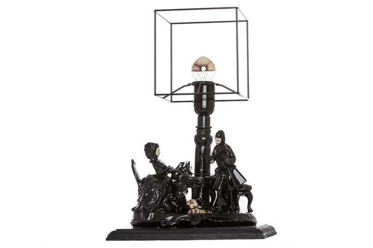Histoire Noir - Statue Lamp