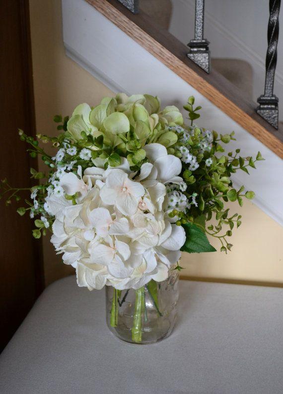 Naturally Everlasting Arrangement in Glass Mason Jar, Wedding Centerpiece on Etsy, $40.00