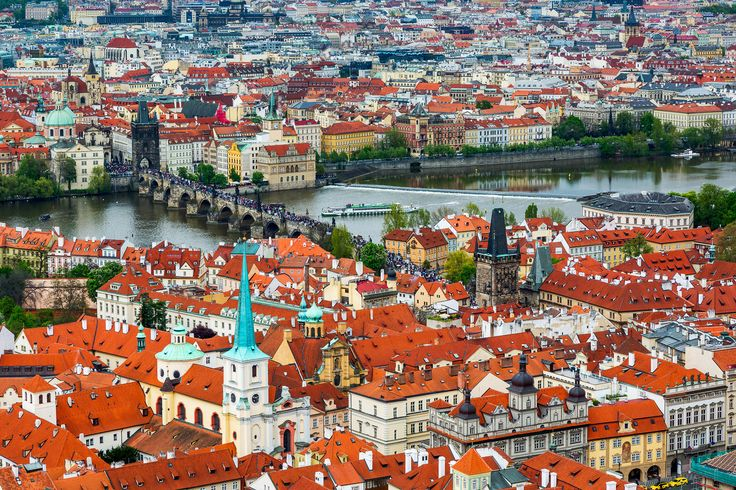 The Old and New Town of Prague as seen from the tower of St Vitus Cathedral.   Credits: Jonathan Reid