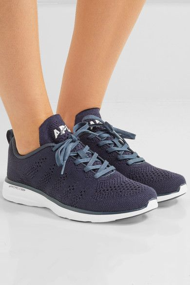 Athletic Propulsion Labs - Techloom Pro Cashmere-blend Mesh Sneakers - Navy - US6.5