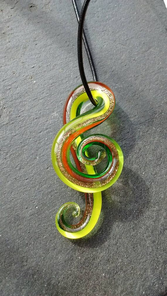 Music Note Pendant Music Lover Gift Music Note by TwiggyPeasticks