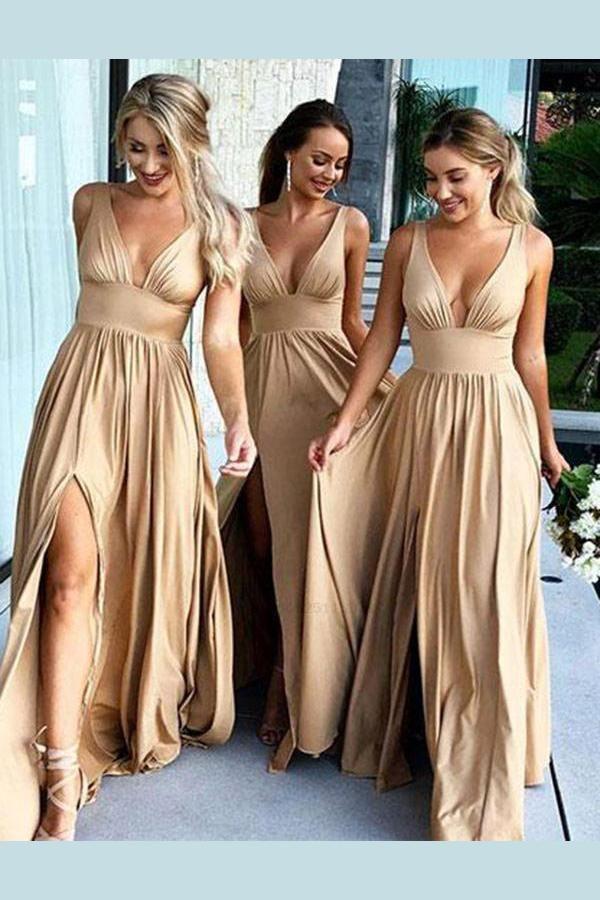 Bridesmaid Dresses V Neck