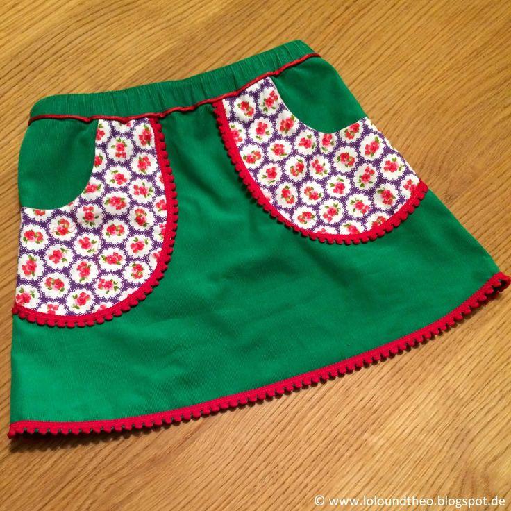 Nähen für die Mädchen - süße DIY-Röcke mit Taschen