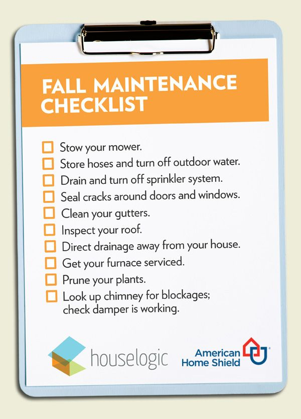 Make sure you're not missing anything on your Fall weekend checklist. #homemaintenance Equal Housing Opportunity