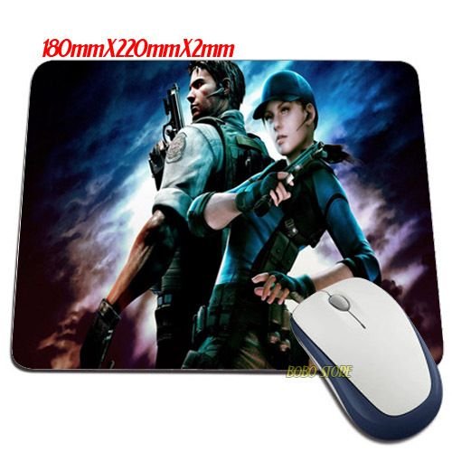 Hot Selling Luxury Resident Evil 5 Game wallpaper Mouse Mats Anti-Slip Rectangle Mouse Pad - shop online