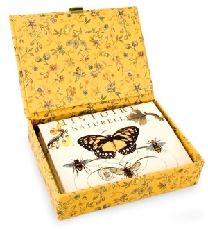 Bee Glass Top Boxed Note Card Set of 12