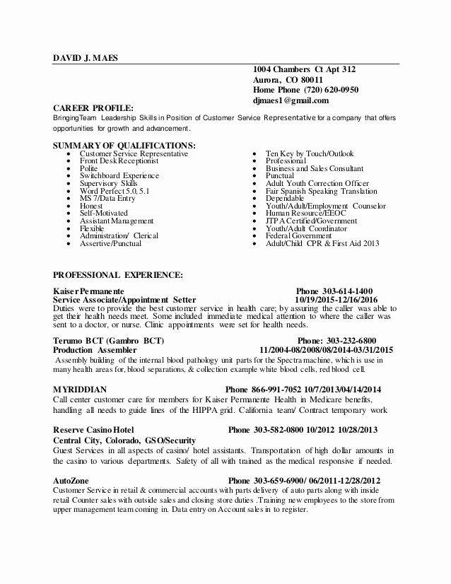 Customer Service Sales Resume Inspirational Resume In 2020 Sales Resume Sample Resume Resume