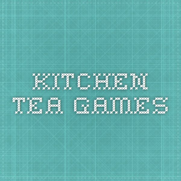 Kitchen Tea Games