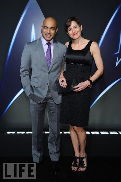 LOS ANGELES, CA - NOVEMBER 16, 2009: Faran Tahir and wife Marie arrive for Paramount Home Entertainment's 'Star Trek' DVD Release Party at the Griffith Observatory on November 16, 2009 in Los Angeles, California.