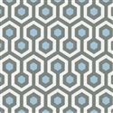 Kitchen curtains?? Lake Blue and Slate Honeycomb Fabric Swatch 125x125 image