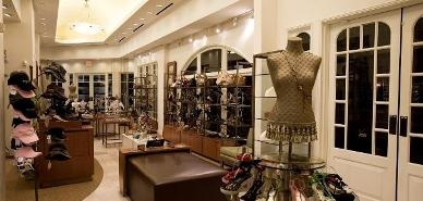very cute and stylish clothing boutique interior