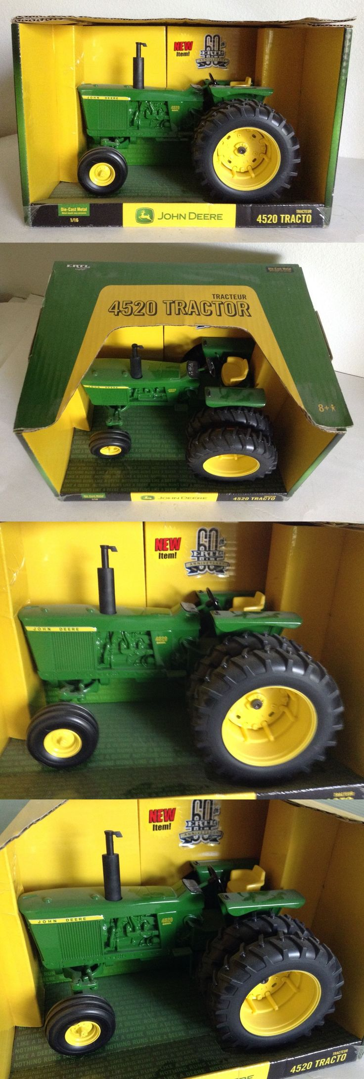 Vintage Manufacture 741: John Deere 4520 Diesel Toy Tractor W Duals Ertl 1 16 New And Hard To Find! -> BUY IT NOW ONLY: $58 on eBay!
