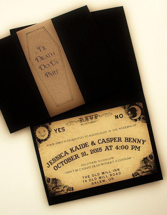 Til Death Do Us Part: Ouija Inspired Spirit Board Wedding Invitation (Digital Printable)