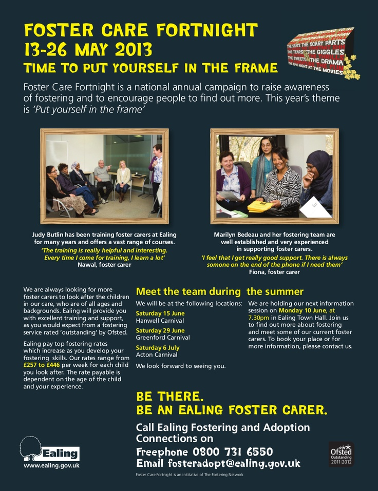 Great full page by Ealing Council in their local Gazette with quotes about the support and training available to their foster carers. #FCF2013