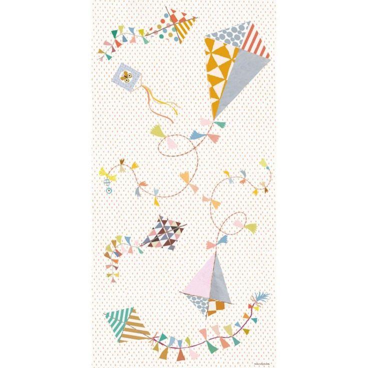 Le sticker Les Cerfs-volants de Poisson Bulle viendra décorer la chambre de votre enfant.