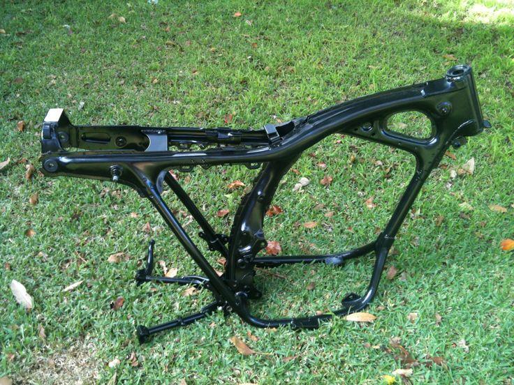 Stock Honda CB350 frame.