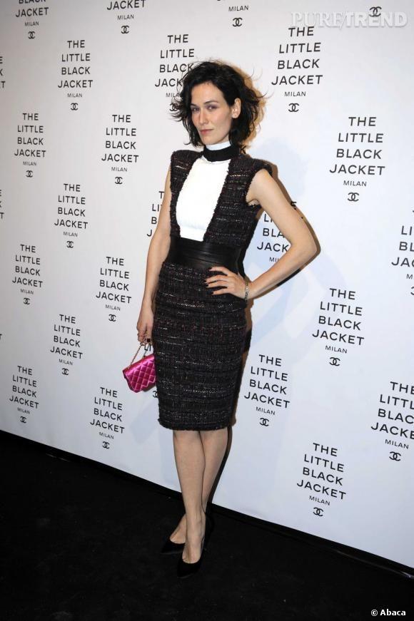Clotilde Hesme à la soirée inaugurale de l'exposition La Petite Veste Noire de Chanel à Milan.