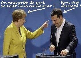 Dette grecque : le temps presse. La dette publique grecque s'�l�ve aujourd'hui � 320 milliards d'euros, soit 177 % du PIB. Elle est essentiellement d�tenue par les gouvernements de la zone euro, le FMI et la BCE. Combien co�terait � la France un effacement...